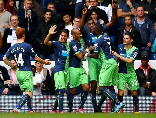 Sammy Ameobi Celebrates His First Premier League Goal of the Season at White Hart Lane. Image: Getty