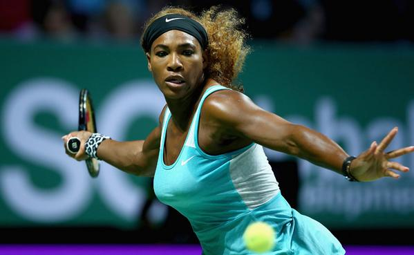 Serena Williams Clinches Her Fifth WTA Finals in Singapore. Image: Getty.
