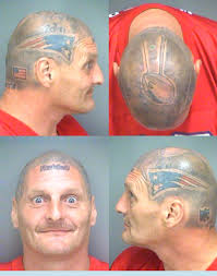 Man With Patriots Helmet Tattooed On Head Arrested