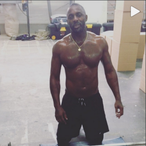 Idris Elba Drives Ladies Wild With Shirtless Work-out Video On Instagram