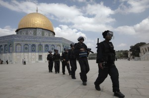 Palestinian Demonstrators Clash With Israeli Police At Jerusalem's al-Aqsa Mosque
