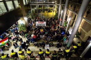 Hundreds Of Kurds Protesters Occupy Dutch Parliament