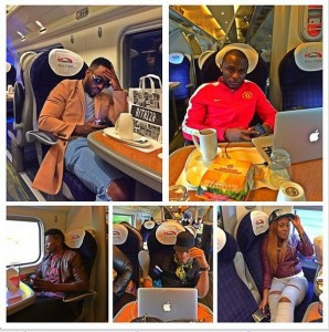 Photo Collage Of Triple MG Crew On Their Way To Manchester For UK Tour