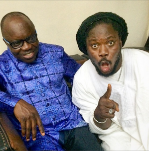 Daddy Showkey poses with governor Emmanuel Uduaghan