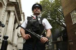 Twenty five-year-old woman arrested north of London for terrorism charges