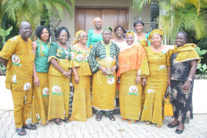 Olusegun Obasanjo spotted rocking a wrapper with other women