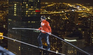 Death-Wish: Daredevil Walks Rope Between Towers Without Harness