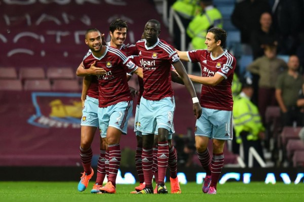 Diafra Sakho Celebrates Scoring for West Ham in a Premier League Game. Image: Getty.
