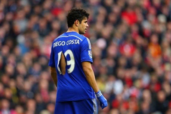 Diego Costa Joins Manchester City's Sergio Aguero at the Top of the Premier League Goal-Scorers' Chart on Ten Goals. Image: Getty