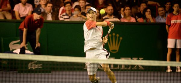 Kei Nishikori Beats David Ferrer to Reach ATP World Tour Finals. Image: Getty.