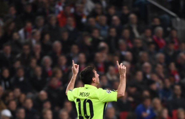 Lionel Messi Achieved the Record Mark in 90 Matches to Raul's 142. Image: AFP.