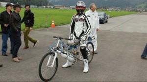 Rocket-Powered Bicycle Sets World Record