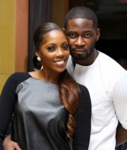 Tee Billz cheers Tiwa Savage up with a cute puppy