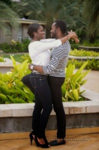 See the pre-wedding photos of O.C Ukeje and his wife, Ibukun Togonu